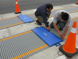 Rollup leveling mat axel scale